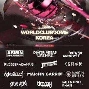 """Musiker & DJ-News: BigCityBeats WORLD CLUB DOME Korea - Der """"größte Club der Welt"""" verkündet erstes Line Up Announcement für Korea"""