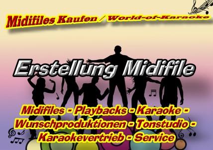 Midifiles Kaufen - Midifile Erstellung - Wunschplayback - Wunsch-Midifile -
