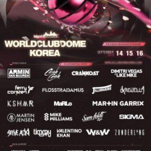 """Musikermagazin - BigCityBeats WORLD CLUB DOME Korea - Der """"größte Club der Welt"""" verkündet die Line Up Phase 2 für Korea"""
