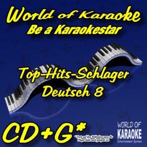 CD-Cover-Karaoke-Deutsch 8-Die-Schlager-CD-
