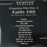 BACKSTAGE KARAOKE COUNTRY HITS VOL 3 FAITH HILL CD+G