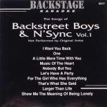 Backstage Karaoke BACKSTREET BOYS N'SYNC VOL. 1 - BS6317