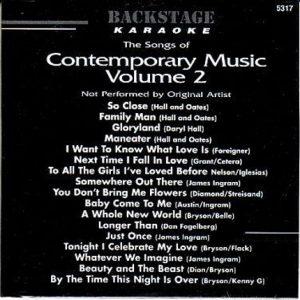 Backstage Karaoke - BS5317 - Contemporary Music 2