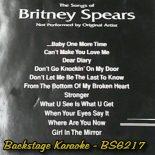 Backstage Karaoke - BS6217 - Britney Spears - Playbacks - CD+G