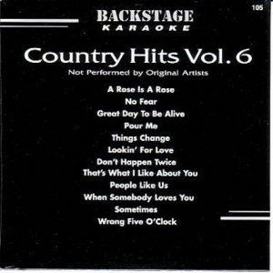 Backstage Karaoke - Contryhits - Vol.6 - Playbacks