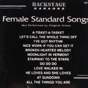 Backstage Karaoke Female Standard Songs - 4017 - Front