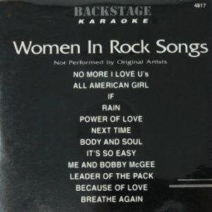 Backstage Karaoke - Women In Rock - 4817 - Front