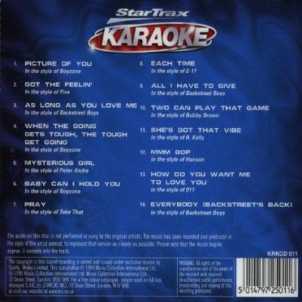 Boys on the Block - Karaoke - Back