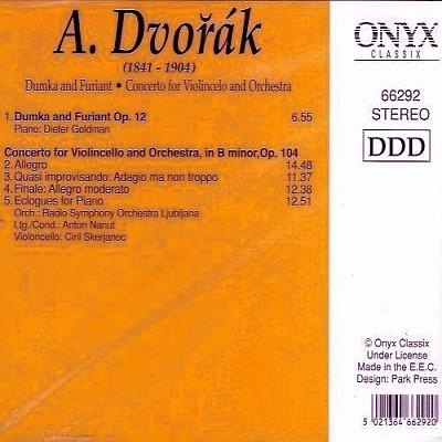 Antonin Dvorak - Dumka and Furiant - Back