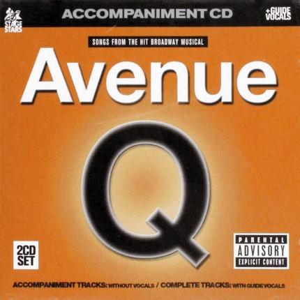Avenue Q - Broadway Musical - Karaoke Playbacks - CD-Front