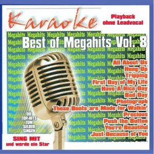 Best Of Megahits Vol.8 CD+G - Karaoke Playbacks - Front