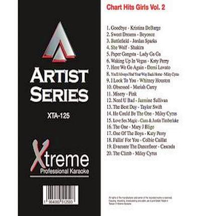 CHART HITS GIRLS VOL.2 - Karaoke Playbacks - XTA-125