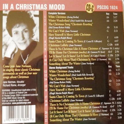 In A Christmas Mood - Karaoke Playbacks - PSCDG 1624 - Rueckseite