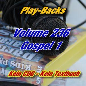 Play-Backs Vol.236 Gospel 1 – Playback Doppel CD ohne CDG