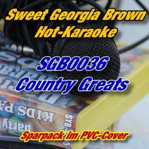 Sweet Georgia Brown Karaoke - SGB0036 - Country Greats Playbacks