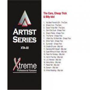 THE CARS, CHEAP TRICK & BILLY IDOL - Karaoke Playbacks - xta22
