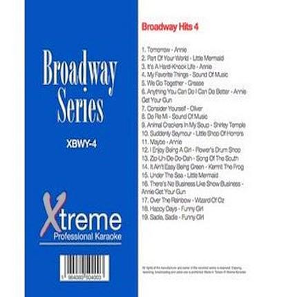 Xtreme Broadway Hits 4 - Xtreme-Karaoke - Playbacks