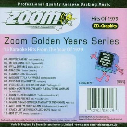 Zoom Karaoke CD+G - Golden Years 1979 - 15 Karaoke Classics - Back