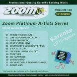 Zoom Platinum Artists - Volume 108 - Hits Of Connie Francis - Karaoke Playbacks