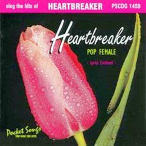 HEARTBREAKER Pop Female - Karaoke Playbacks - PSCDG 1459 - CD-Front