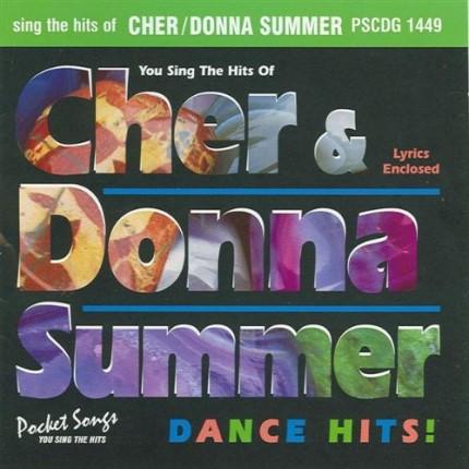Hits von Cher und Donna Summer - Karaoke Playbacks - PSCDG 1449 - CD-Front