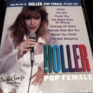 Holler - Pop Female - Karaoke Playbacks - PSCDG 1521 - CD-Front