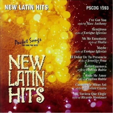 New Latin Hits - Karaoke Playbacks - PSCDG 1593 - CD-Front