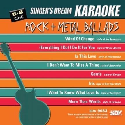 Rock and Metal Ballads - Karaoke Playbacks - SDK 9033 - CD-Front