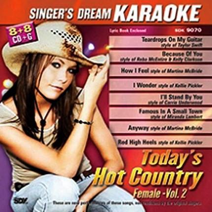 Singer's Dream - Today's Hot Country - Female - Vol. 2 - Karaoke Playbacks - CD+G