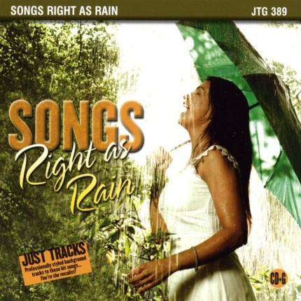 Songs Right As Rain - Karaoke Playbacks - JTG 389 - CD-Front