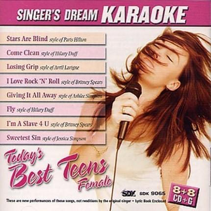 Today's Best Teens Female - Karaoke CDG - CD-Front