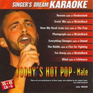 Today's Hot Pop-Male - Karaoke Playbacks - CD+G - CD-Front