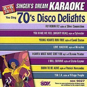 70's Disco Lights - Karaoke Playbacks - SDK 9027 - CD-Front