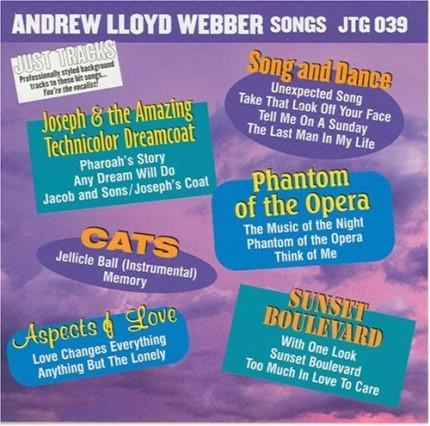 Andrew Lloyd Webber Songs als Karaoke Playbacks - JTG 039 - CD-Front