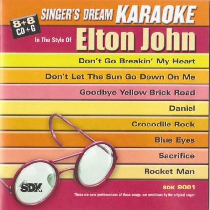 Best Of Elton John - Karaoke Playbacks - SDK 9001 - CD-Front
