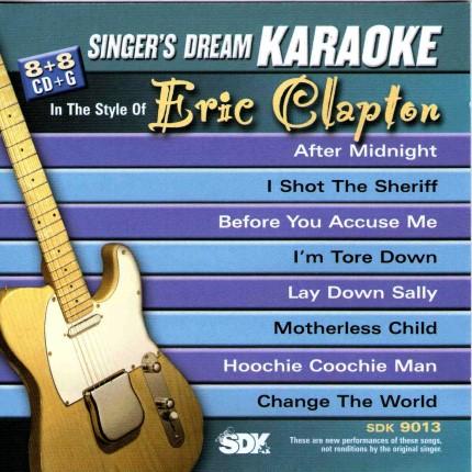 Best Of Eric Clapton – Karaoke Playbacks – SDK 9013 - CD-Front