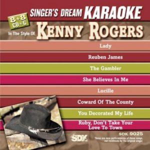 Best Of Kenny Rogers - Karaoke Playbacks - SDK 9025 - CD-Front