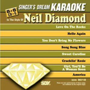 Best Of Neil Diamond - Karaoke Playbacks - SDK 9018 - CD-Front