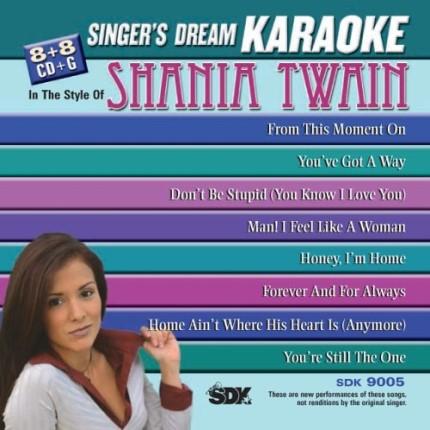 Best Of Shania Twain - SDK 9005 - Karaoke Playbacks - CD-Cover