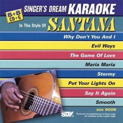 Best-of-Santana-Karaoke-Playbacks-SDK-9009-CD-Front