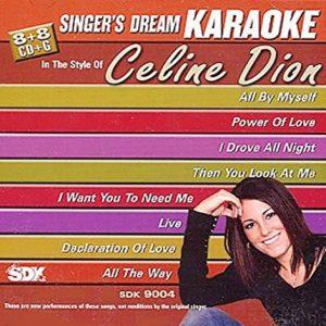 Celine Dion - Karaoke Playbacks - SDK 9004 - CD-Front