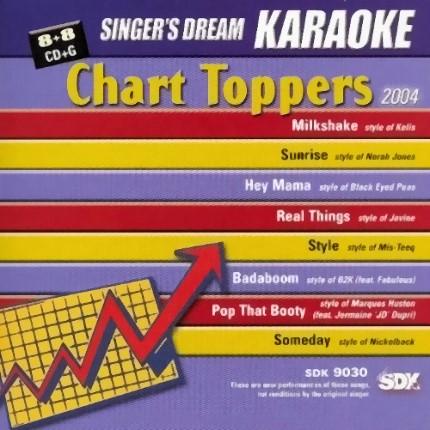Chart Toppers 2004 - SDK 9030 - Karaoke Playbacks - CD-Front