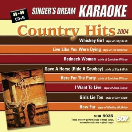 Country-Hits-2004-Karaoke-Playbacks-SDK-9035-CD-Front