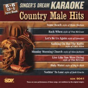 Country Male Hits - Karaoke Playbacks - SDK 9041 - CD-Front