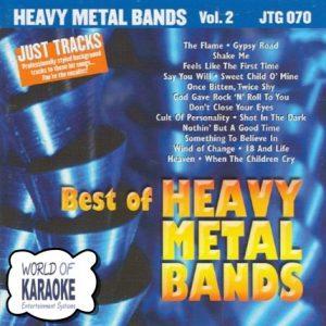 Heavy Metal Bands Vol.2 - Karaoke Playbacks - JTG 070 - CD-Front
