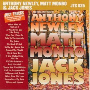 Hits Of Anthony Newley, Matt Monro & Jack Jones – JTG 025 - CD-Front