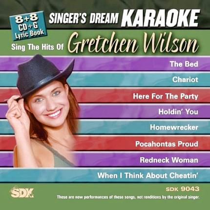 Hits-of-Gretchen-Wilson-Karaoke-Playbacks-SDK-9043-Front-CD