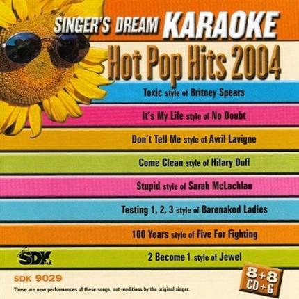 Hot Pop Hits 2004 – Karaoke Playbacks – SDK 9029 - Front
