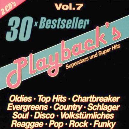 Playback'S Vol.7 - Karaoke Playbacks - 30 Bestseller - CD-Front