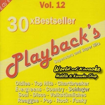 Playbacks Vol.12 - Titan - 30 Bestseller - CD-Front